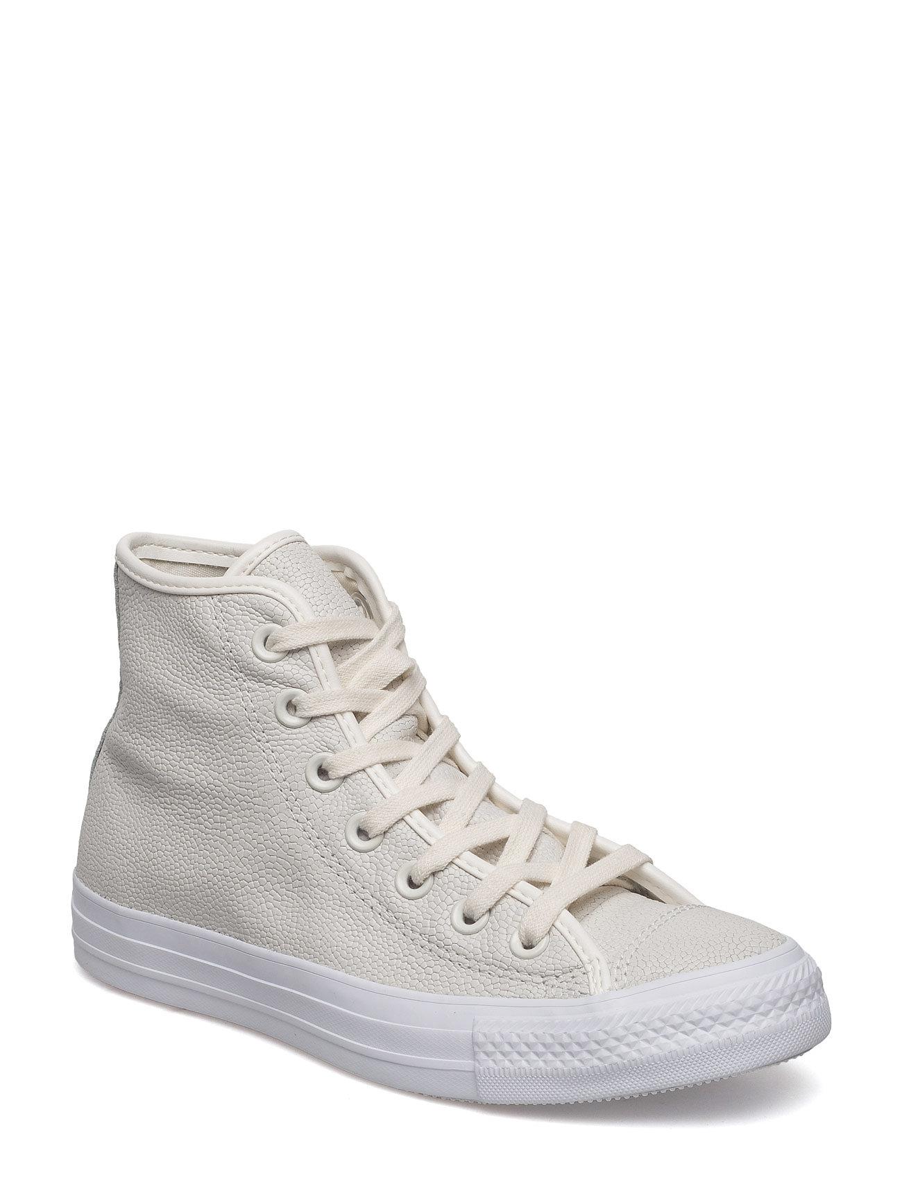 Ctas Hi Egret/Egret/White Converse Sneakers til Damer i Knogle
