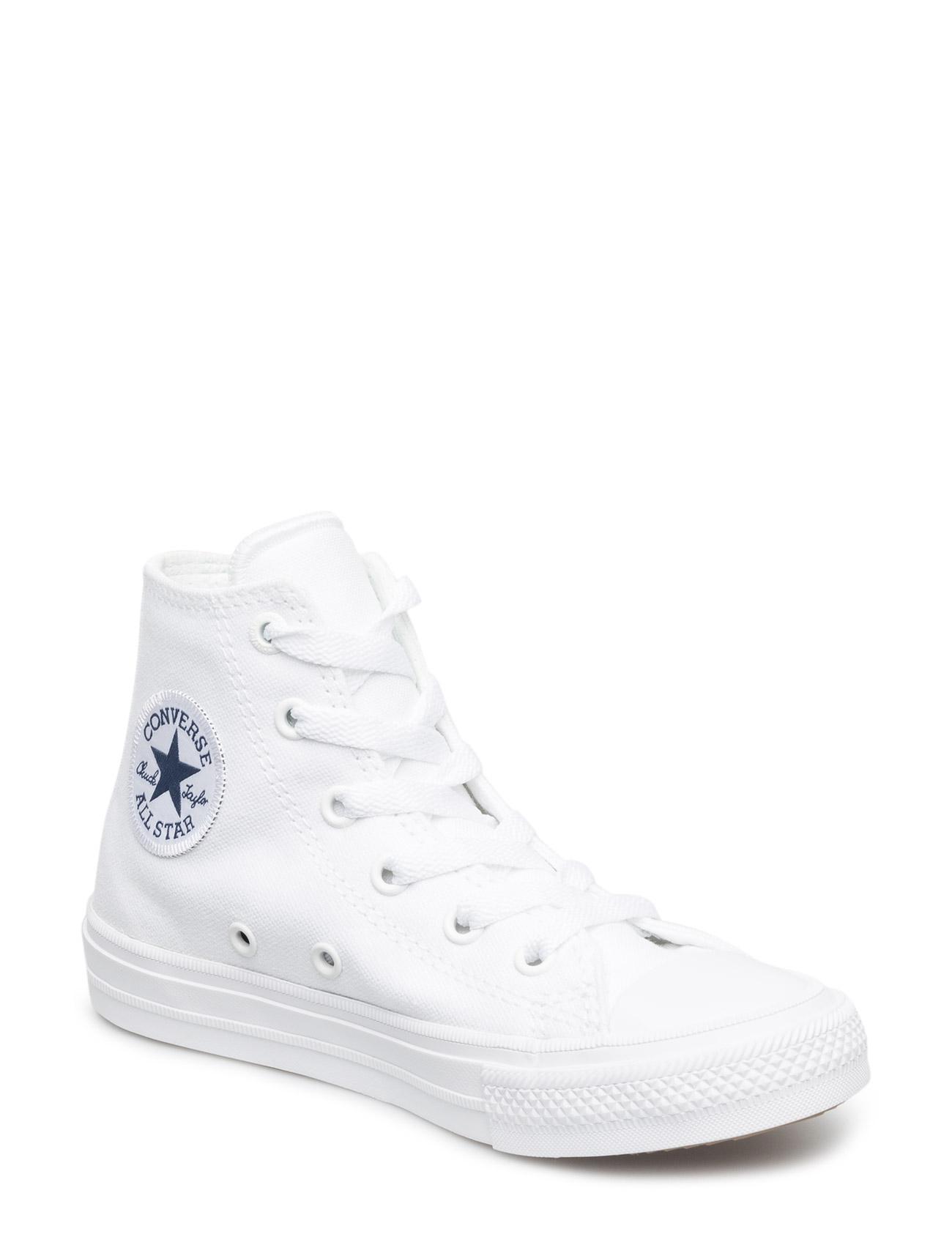 Ctas Ii Hi White/White/Navy Converse Sko til Børn i