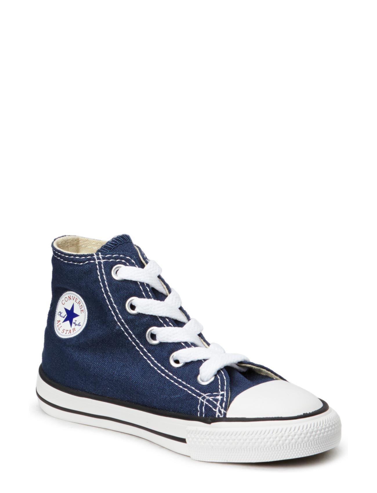 Small Star Canvas Hi Converse Sko & Sneakers til Børn i Navy blå
