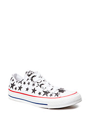 All Star Print Stars Ox - White/Black/White