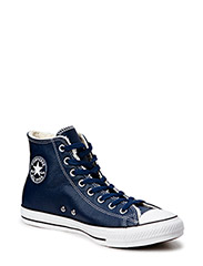 All Star Leather Shearling Hi - Navy