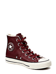 All Star Leather Shearling Hi - Deep Bordeaux