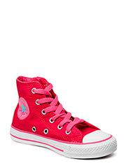 All Star Side Zip Kids Hi - Berry Pink