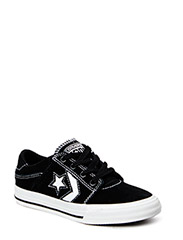 Cons Tre Star Kids Leather Ox - Black