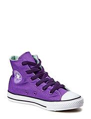 All Star Kids Side Zip Hi - Purple