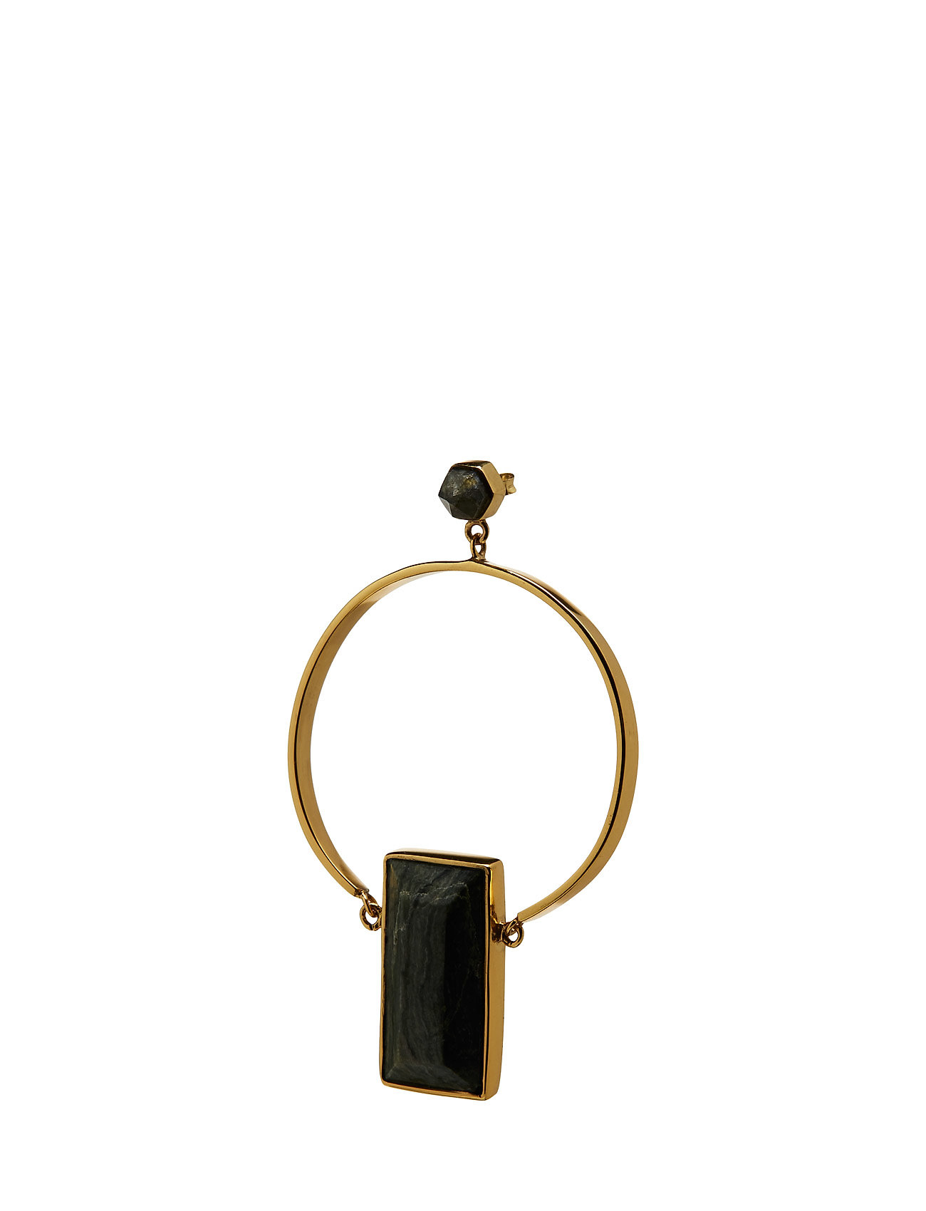 Stoned Hoop Earring Large Cornelia Webb Smykker til Damer i