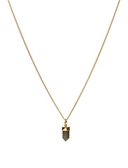 CHARMED LABRADORITE NECKLACE SMALL CLASSIC - 52 GOLD PLATED