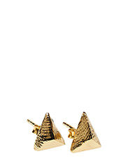 CHARMED STUD EARRING LARGE - 52 GOLD PLATED