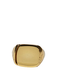 MOLDED SIGNET RING - SQUARE SMALL CLASSIC - 52 GOLD PLATED