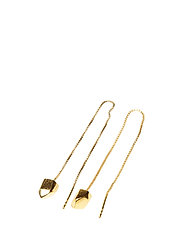 CHARMED CHAIN EARRING - 52 GOLD PLATED