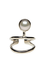 PEARLED KNUCKLE RING CLASSIC - 21 STERLING SILVER