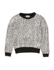 Ebba - off White with Black pattern
