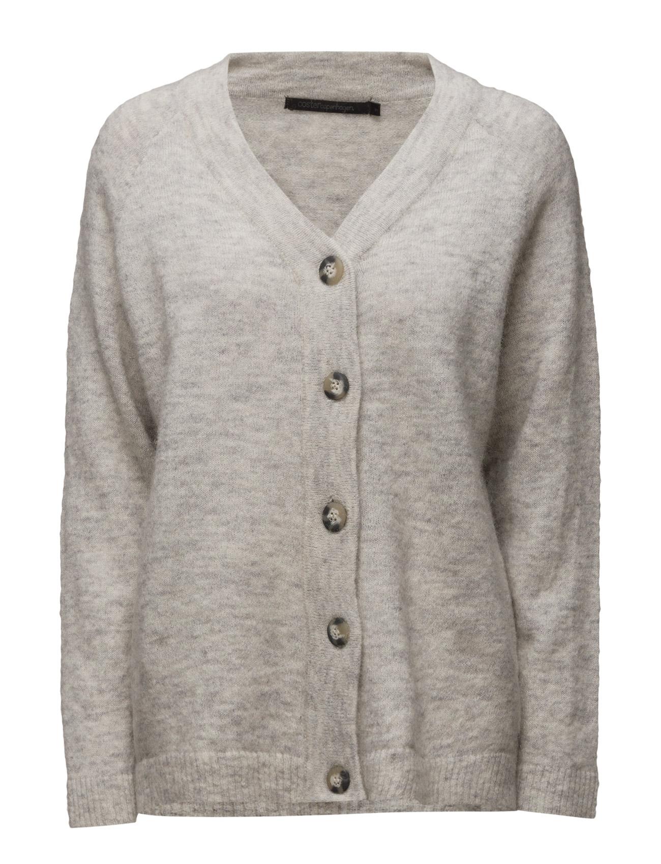 Oversize Knit Cardigan Coster Copenhagen Cardigans til Kvinder i Sne hvid