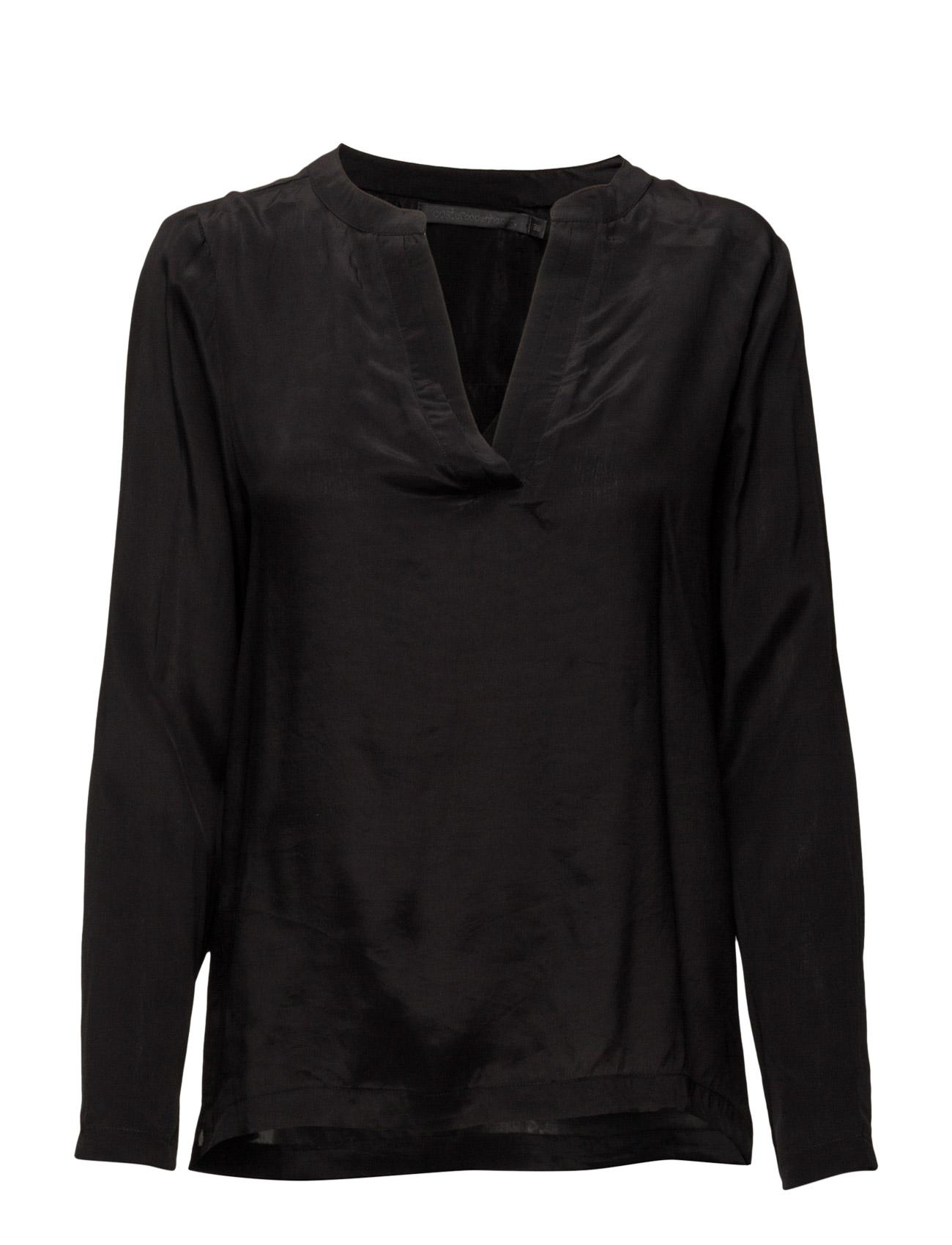Cupro Shirt Coster Copenhagen Langærmede til Kvinder i Pine Green