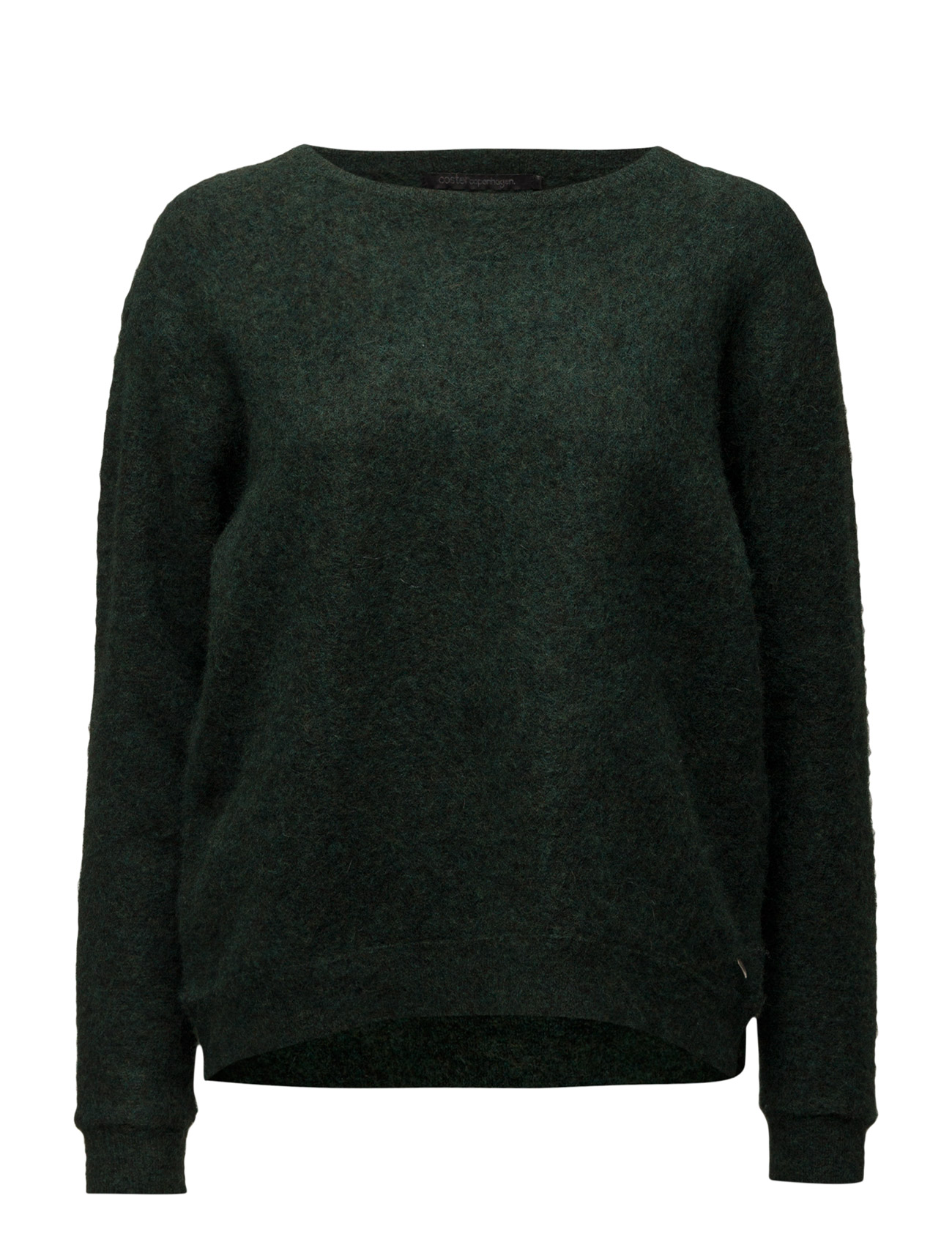 Mohair Knit Top Round Neck Coster Copenhagen Sweatshirts til Kvinder i Bordeaux Melange