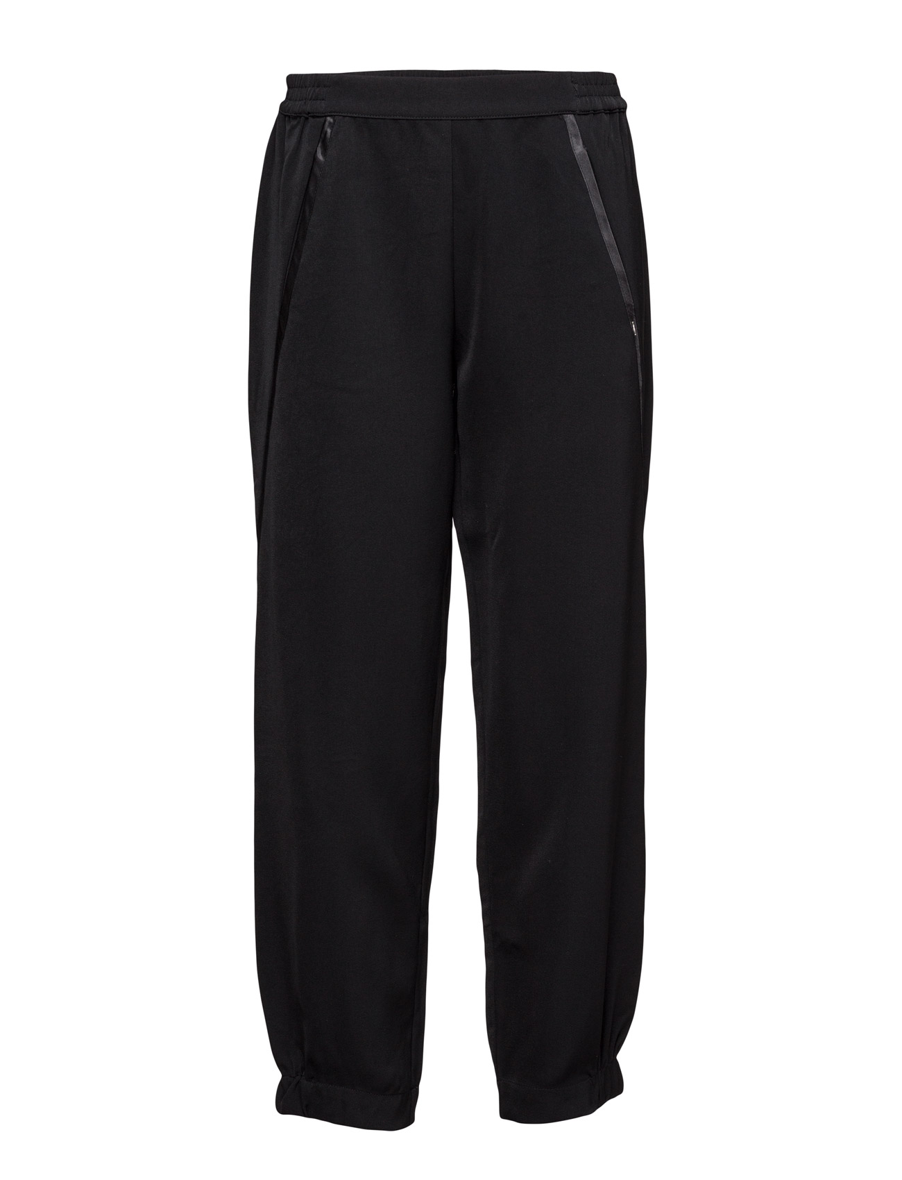 Pants W. Satin Piping Coster Copenhagen Casual bukser til Damer i Sort
