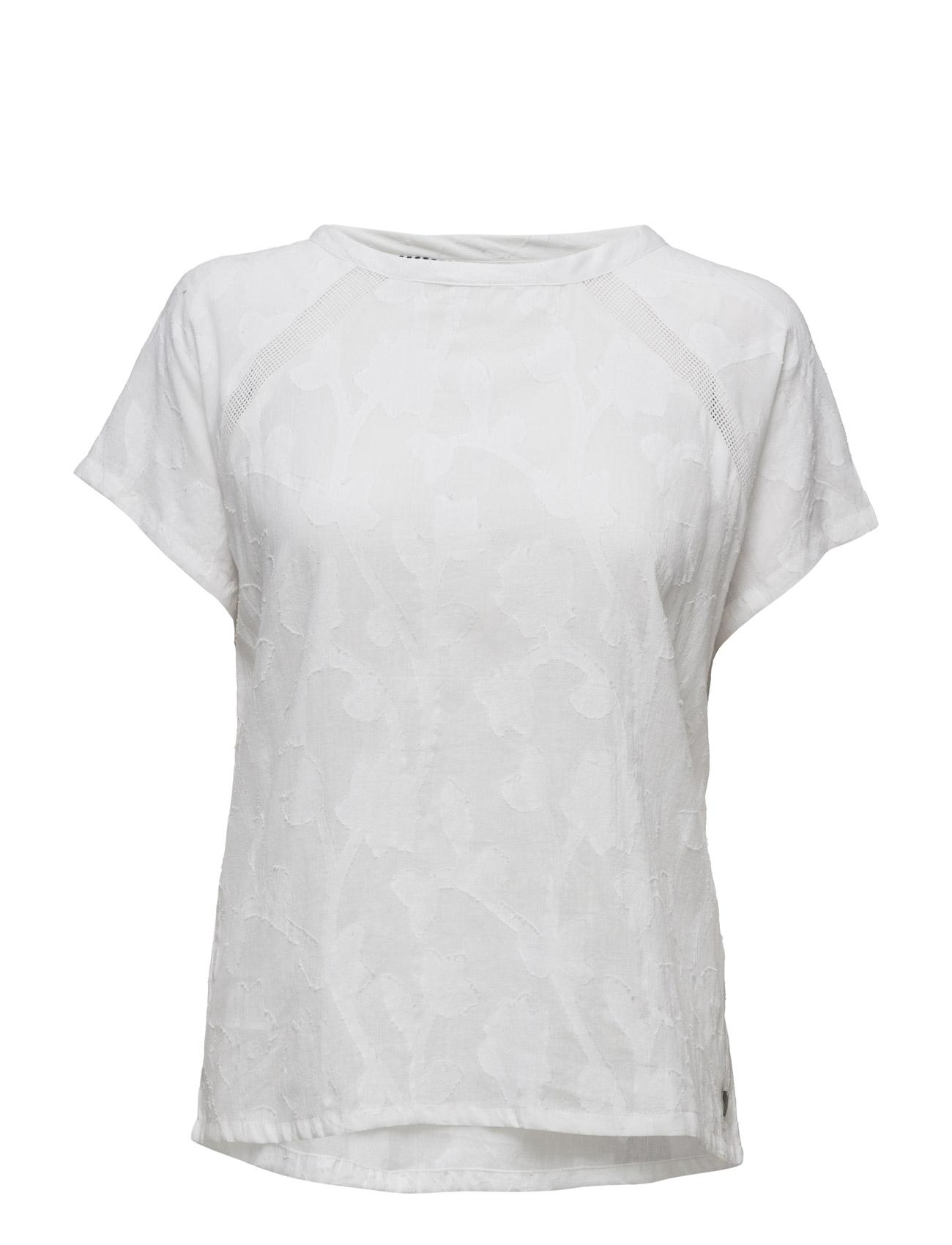Short Sleeve Cotton Jacquard Top Coster Copenhagen T-shirts & toppe til Kvinder i