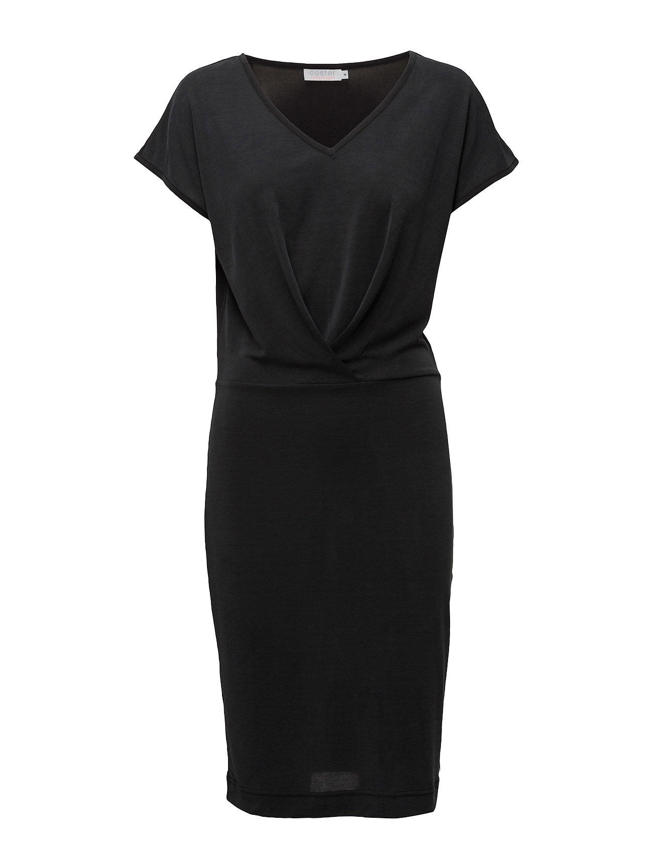 0b6abc873eaf Bestil Jersey Dress W. Front Pleats Coster Copenhagen Kjoler i Sort til  Kvinder på nettet