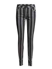 Stribed pants - DARK GREY MELANGE