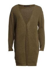 Long knit cardigan - Army melange