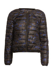 Short army print down jacket - Army print