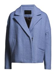 Heavy wool short jacket - Light Blue