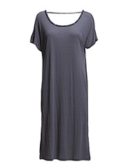 Dress with deep neck at back - Dark Grey
