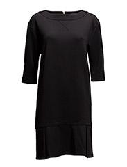 Dress with flounce - BLACK