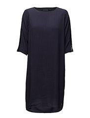 Dress with sequins panels - DARK BLUE