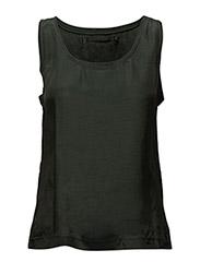 Cupro sleeveless top - PINE GREEN