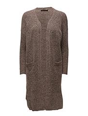 Mohair long cardigan - VINTAGE ROSE MELANGE