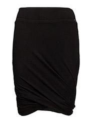 Merino wool skirt - BLACK