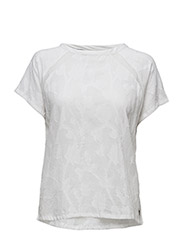 Short sleeve cotton jacquard top
