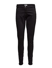 Garment dyed pants - BLACK