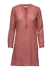 Striped shirt dress - ROSE DUST/RASPBERRY