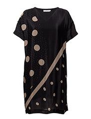 Dot print dress - DOT PRINT WARM POWDER