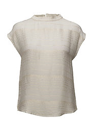 Gold stripe sleeve less top - OFF WHITE