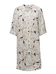 Long shirt w. bird print - BIRD PRINT