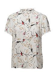 Bird print shirt - BIRD PRINT