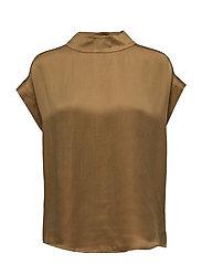 Short sleeve top w. high collar - DIJON