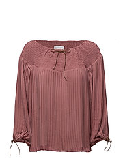 Pleated top - DUSTY ROSE