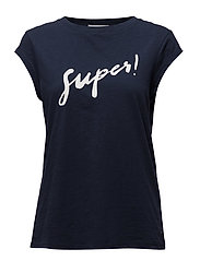 T-shirt w. super - DARK BLUE