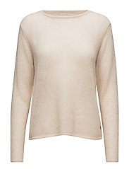Thin kid mohair sweater - WARM POWDER