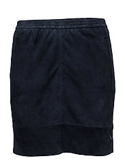 Suede skirt - DARK BLUE