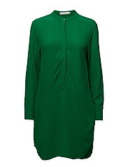 Moss crepe shirt dress - GRASS GREEN