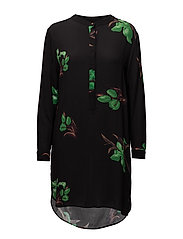 Tulip print shirt dress - TULIP PRINT