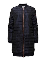 Long fake down jacket - DARK BLUE