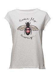 T-shirt w. bee - WHITE