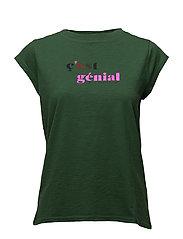 T-shirt w. cest genial - JELLY GREEN