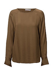 Striped jacquard shirt - BRONZE